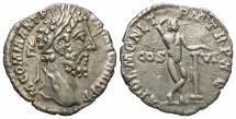 Ancient Coins - Comodus, 177 - 192 AD, Silver Denarius, Apollo