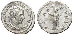 Ancient Coins - Philip I, 244 - 249 AD, Silver Antoninianus, Pax