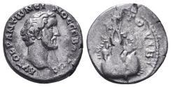 Ancient Coins - Antoninus Pius, 138 - 161 AD, Silver Denarius with Annona