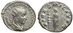 Ancient Coins - Gordian III, 238 - 244 AD, Silver Antoninianus, Fides