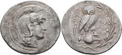 Ancient Coins - Attica, Athens, 165 - 42 BC, New Style Silver Tetradrachm