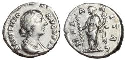 Ancient Coins - Faustina Jr., 161 - 164 AD, Silver Denarius, Hilaritas