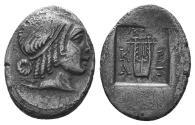 Ancient Coins - Lycian Leage, Kragos, 35 - 30 BC, Silver Hemidrachm