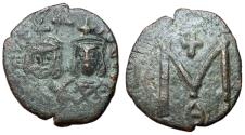 Ancient Coins - Michael II with Theophilus, 820 - 829 AD, Follis of Syracuse