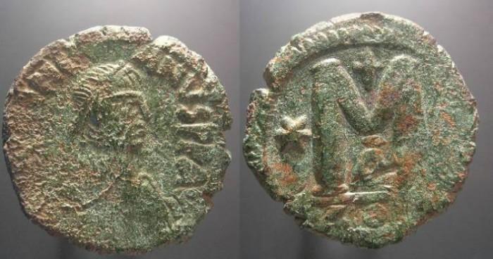 Ancient Coins - Justinian I,  527 - 565 AD, Follis