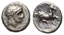 Ancient Coins - Thessaly, Phalanna, 4th Century BC, Silver Obol