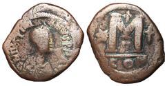 Ancient Coins - Justinian I, 527 - 565 AD, Follis of Constantinole