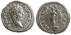 Ancient Coins - Geta, 209 - 211 AD, Silver Denarius, British War Issue, Nice XF