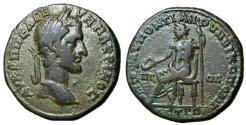 Ancient Coins - Macrinus, 217 - 218 AD, AE28 of Nicopolis, Zeus Seated, Unpublished?