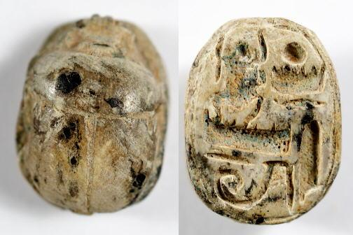 Ancient Coins - Egyptian Steatite Scarabe of Thutmose III, 18th Dynasty, 1479 - 1425 BC