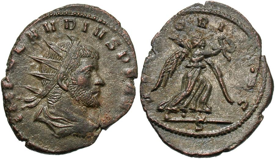 Ancient Coins - Claudius II, 269 - 270 AD, Antoninianus, Mediolanum, Victory
