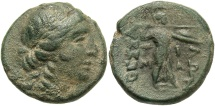 Ancient Coins - Thessalian League, Tima, Magistrate, 150 BC