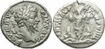 Ancient Coins - Septimius Severus, 193 - 211 AD, Silver Denarius, Trophy