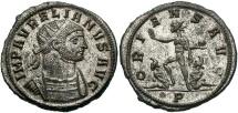 Ancient Coins - Aurelian, 270 - 275 AD, Antoninanus of Serdica, Silvered