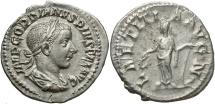 Ancient Coins - Gordian III, 238 - 244 AD, Silver Denarius, Laetitia