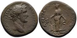 Ancient Coins - Antoninus Pius, 138 - 161 AD, Sestertius with Annona