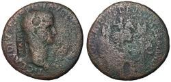 Ancient Coins - Claudius I, 41 - 54 AD, Sestertius with British Countermark