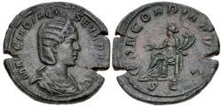 Ancient Coins - Otacilia Severa, 244 - 249 AD, Sestertius, Concordia