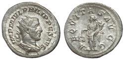 Ancient Coins - Philip I, 244 - 249 AD, Silver Antoninianus, Aequitas