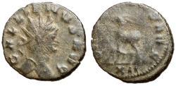 Ancient Coins - Gallienus, 253 - 268 AD, Antoninianus of Rome, Antelope