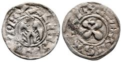 World Coins - Provincial France, Valence, Anonymous Bishops, 13th Century Silver Denier
