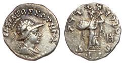Ancient Coins - Baktria, Menander I, 155 - 130 BC, Silver Drachm