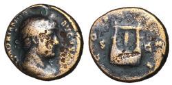 Ancient Coins - Hadrian, 117 - 138 AD, AE Semis, Lyre