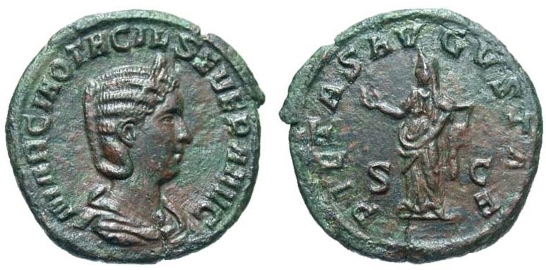Ancient Coins - Otacilia Severa, 244 - 249 AD, Scarce As with Pietas
