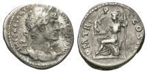 Ancient Coins - Hadrian, 117 - 138 AD, Silver Denarius, Roma