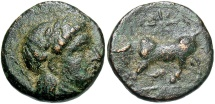 Ancient Coins - Mysia, Gambrion, after 350 BC, Apollo & Bull