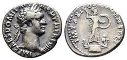 Ancient Coins - Domitian, 81 - 96 AD, Silver Denarius, Unpublished Mule