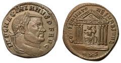 Ancient Coins - Maximianus, Second Reign, 307 - 308 AD, Follis of Aquileia