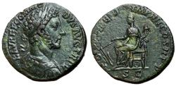 Ancient Coins - Commodus, 177 - 192 AD, Sestertius, Fortuna, Emerald Green Patina