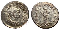 Ancient Coins - Carinus, 283 - 285 AD, Antoninianus of Ticinum, Felicitas