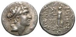 Ancient Coins - Kings of Cappadocia, Ariarathes V Eusebes Philopater, 163 - 130 BC, Silver Drachm