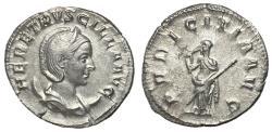 Ancient Coins - Herennia Etruscilla, 249 - 251 AD, Silver Antoninianus, Pudicitia