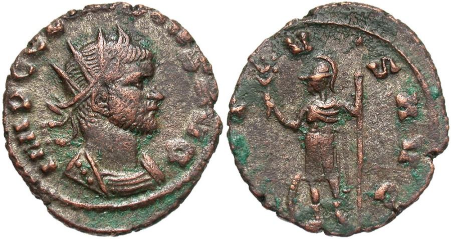Ancient Coins - Claudius II Gothicus, 268 - 270 AD, Antoninianus of Rome, Mars