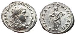 Ancient Coins - Elagabalus, 218 - 222 AD, Silver Antoninianus, Salus