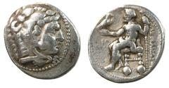 Ancient Coins - Kings of Macedonia, Alexander III, The Great, 336 - 323 BC, Silver Tetradrachm, Tyre Mint