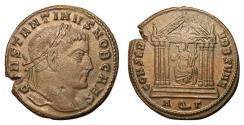 Ancient Coins - Constantine I, as Caesar, 306 - 307 AD, Follis of Aquileia