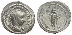 Ancient Coins - Gordian III, 238 - 244 AD, Silver Antoninianus, Sol