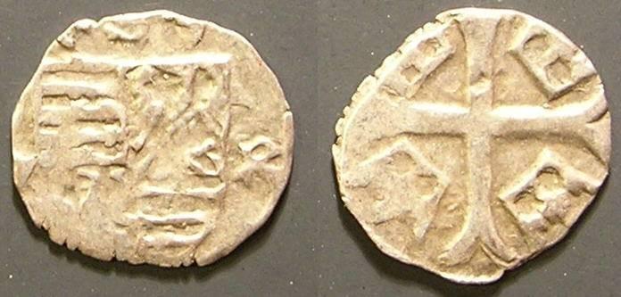 World Coins - Hungary, Sigismund I, 1386 - 1437 AD, AR Parvus