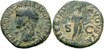 Ancient Coins - Claudius I, 41 - 54 AD, AE As, Libertas