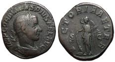 Ancient Coins - Gordian III, 238 - 244 AD, Sestertius, Victory