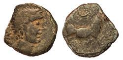 Ancient Coins - Spain, Castulo, 1st Century BC, AE17