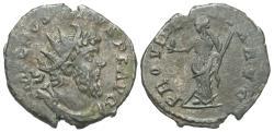 Ancient Coins - Postumus, 260 - 269 AD, Billon Antoninianus, Providentia, Treveri Mint