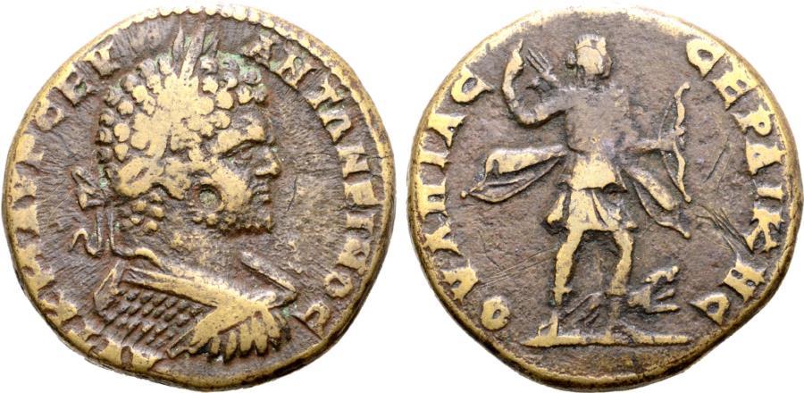 Ancient Coins - Caracalla, 198 - 217 AD, AE28 of Serdica, Artemis, Rare