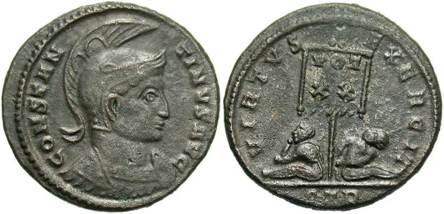 Ancient Coins - Constantine I, 307 - 337 AD, Follis of Ticinum