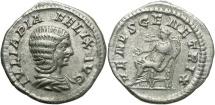 Ancient Coins - Julia Domna, Under Caracalla, 198 - 217 AD, Silver Denarius, Venus