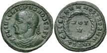 Ancient Coins - Crispus, as Caesar, 316 - 326 AD, AE19, Thessalonika Mint